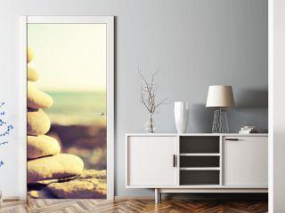 concept of balance and harmony. rocks on the coast of the Sea