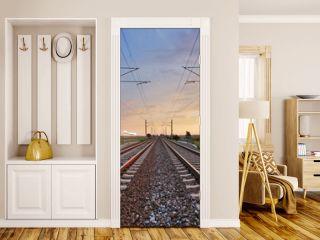 Railway at sunset