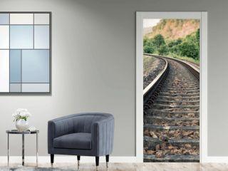 vintage railroad tracks