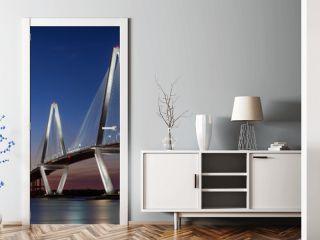 Sunset at the Arthur Ravenel Jr. Bridge across the Cooper River in Charleston, South Carolina