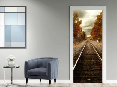 Train tracks in fall