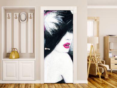 beautiful woman. fashion illustration. acrylic painting