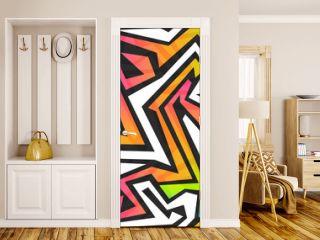 spectrum color graffiti seamless pattern