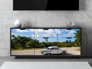 Kuba Taxi Ansicht auf der Strasse
