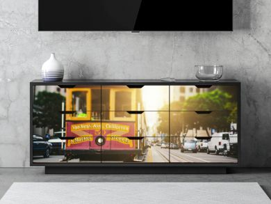 San Francisco Cable Car in California Street