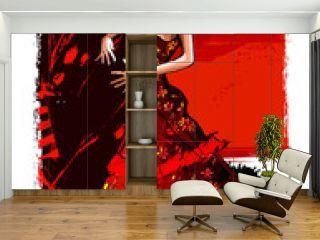 Flamenco spanish dancer woman