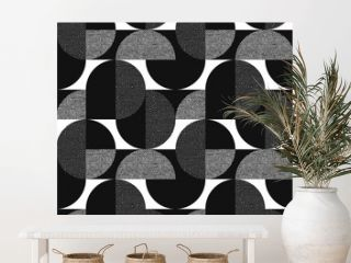 Black and white geometric modern seamless pattern