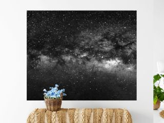 Nature view of milky way galaxy with star in universe space at night.