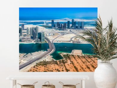 Aerial view of maryah island in Abu Dhabi