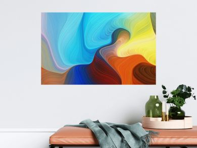 horizontal colorful abstract wave background with peru, firebrick and light sea green colors. can be used as texture, background or wallpaper
