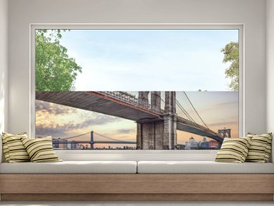 Brooklyn Bridge over the East River in New York City