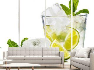 Caipirinha refreshing and delicious cocktail.