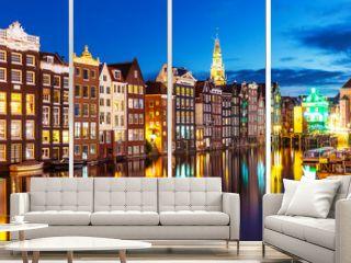 Night view of Amsterdam, Netherlands