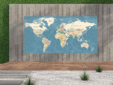 World Map Vector. Detailed illustration of worldmap