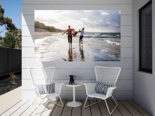 Familie glücklich am Strand