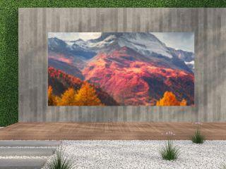 Matterhorn slopes in autumn