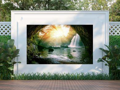 haew suwat waterfalls in khao yai national park thailand