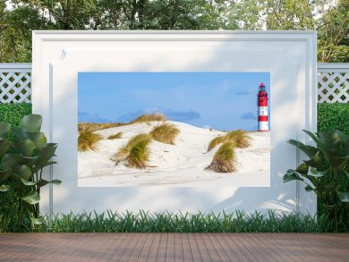 Leuchtturm in den Dünen, Insel Amrum Nordfriesland