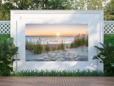 Sunset at the dune beach
