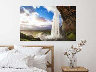 beautiful amazing landscape from Iceland, Seljandafoss waterfall