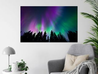 Colorful northern lights