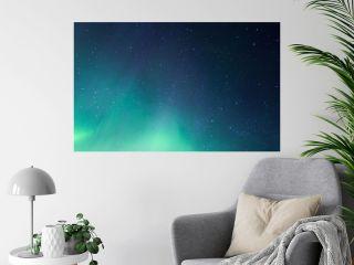 Aurora borealis display, northern lights in Iceland