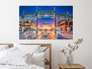 Jianlou seen throughZhengyang Gate, Beijing, China