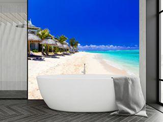 Serene tropical holidays - perfect white sandy beaches of Mauritius island