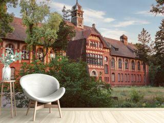 BEELITZ - 25 MAY 2012: Abandoned hospital and sanatorium Beelitz Heilstatten near Berlin, Beelitz, Germany