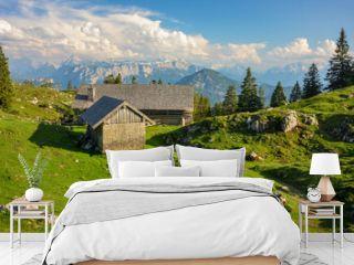 beautiful scenery at Chiemgau alps with Kohler Alm