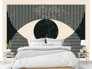 Trendy abstract creative minimalist artistic hand drawn composition