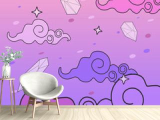 cute and colorfull kawaii background