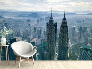 Aerial View Sunrise Of Klcc Tower Kuala Lumpur City Centre