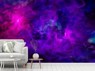 Sci fi  landscape cyberpunk style 3d render, Fantasy universe and galaxy cloud background.