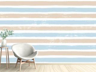 Stripes pattern, summer blue striped seamless vector background, navy brush strokes. pastel grunge stripes, watercolor paintbrush line