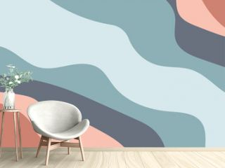 flow wallpaper and Light Orange vector background with bent lines and Brand new colored illustration in marble style with gradient and The elegant pattern for design.eps
