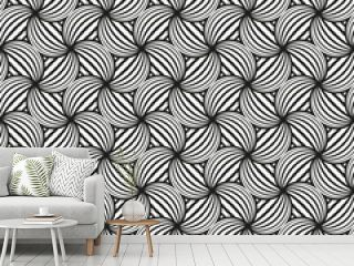 Art Deco seamless wave intersect pattern background