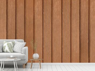 Panorama of Brown solid wood flooring for outdoor floors texture and background seamless