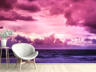 Purple sunset over the sea