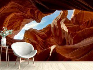 Antelope Canyone blue sky