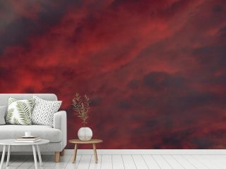 Red clouds or smoke background