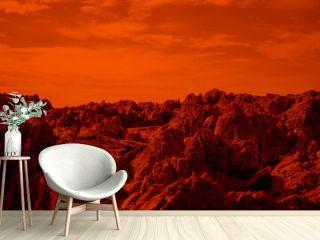 paysage de la planète mars