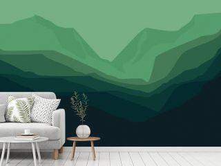 minimalist mountain landscape illustration vector for banner background, web background, apps background, tourism design template and adventure backdrop