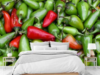 Green hot jalapeno chili peppers