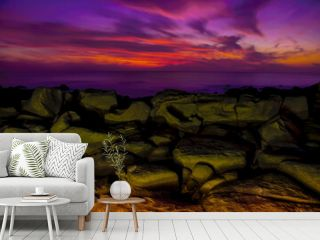 coastal landscape of the pacific sunset in mazatlan sinaloa