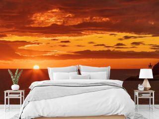 A Beautiful Red Mediterranean Sunrise