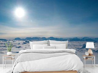 Ice field in Greenland