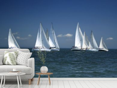 start of a sailing regatta