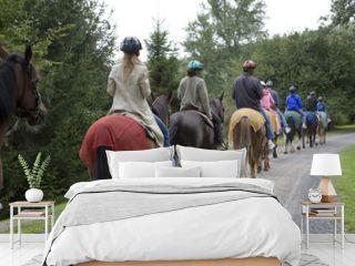 horseback riding group