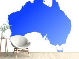 blue gradient map of australia